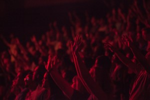 concert-goers in a crowd