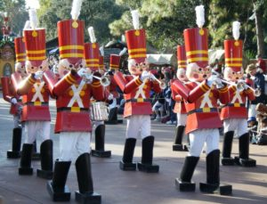 A nutcracker marching band.